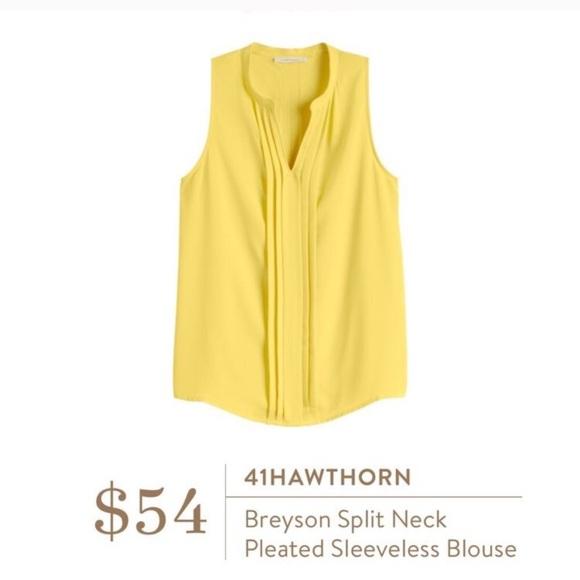 24d016aa4d32ba 41Hawthorn Tops - Stitch Fix 41Hawthorn Breyson Split Neck Blouse